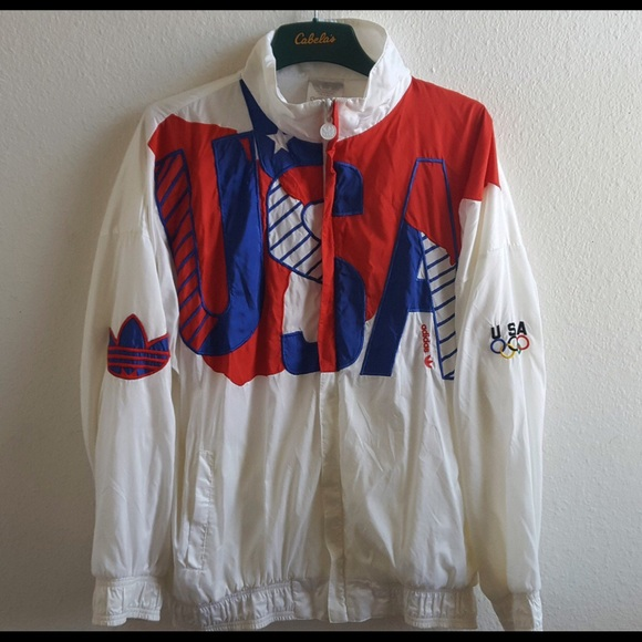 adidas Other - Vintage Adidas USA Olympic Spellout Jacket e976d74cc